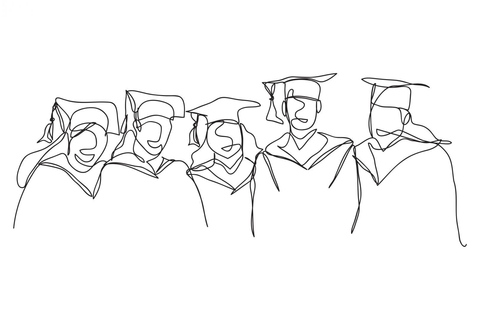 IB Diploma Graduates Doodle Image piece